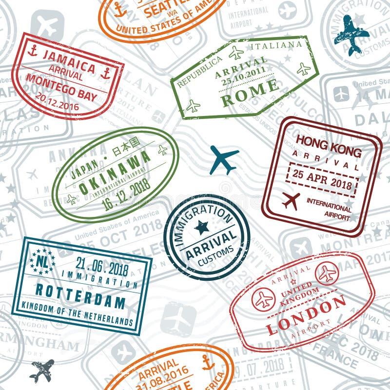 Textura del sello del pasaporte libre illustration