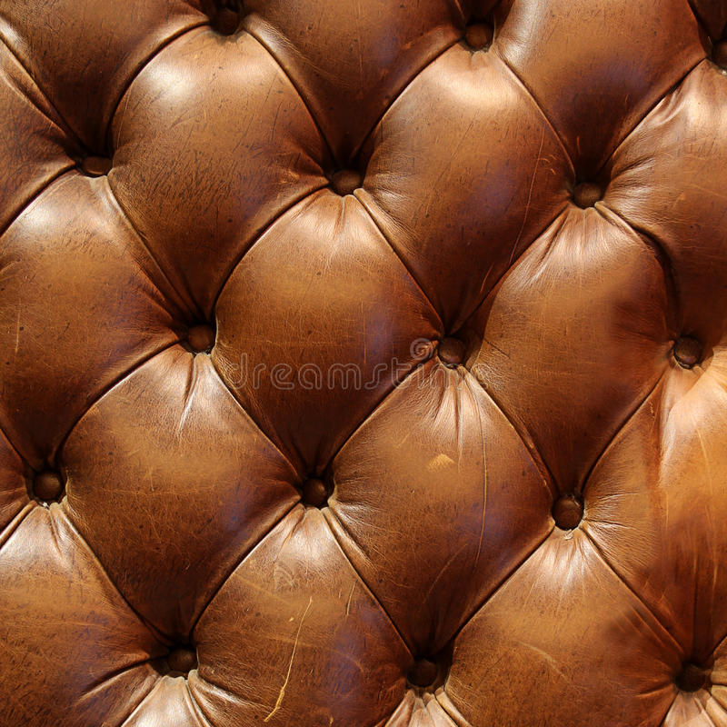 Textura del sofá del cuero de Brown imagen de archivo libre de regalías
