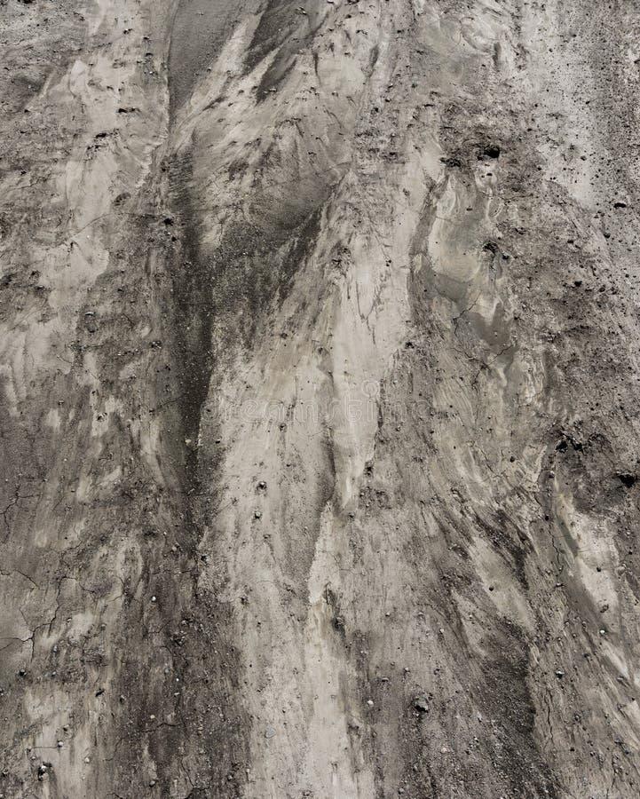 Textura del suelo de un campo después de fuertes lluvias foto de archivo
