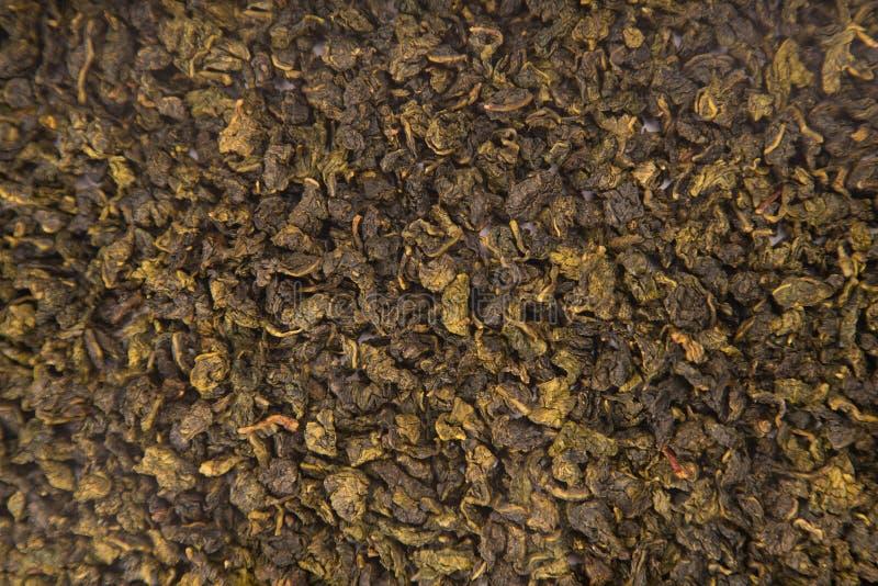 Textura del té de Guan Yin Oolong del lazo imágenes de archivo libres de regalías