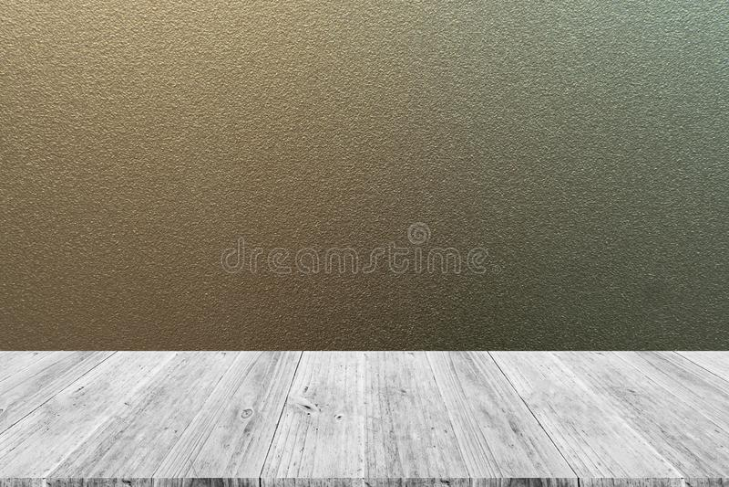 Textura Del Vidrio Esmerilado Con La Terraza De Madera Foto