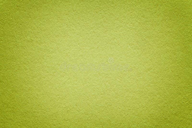 Textura del viejo fondo del Libro Verde, primer Estructura de la cartulina verde oliva ligera densa fotografía de archivo libre de regalías