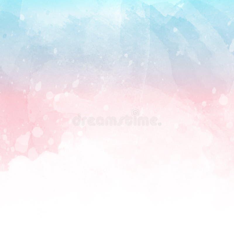 Textura del Watercolour con los splats y las manchas ilustración del vector