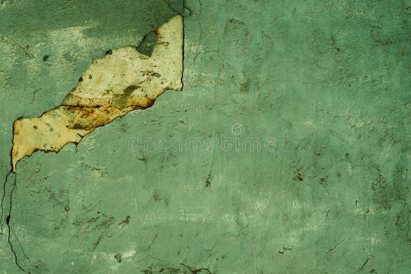 Textura del yeso decorativo verde dilapidado Fondo abstracto para el dise?o foto de archivo libre de regalías