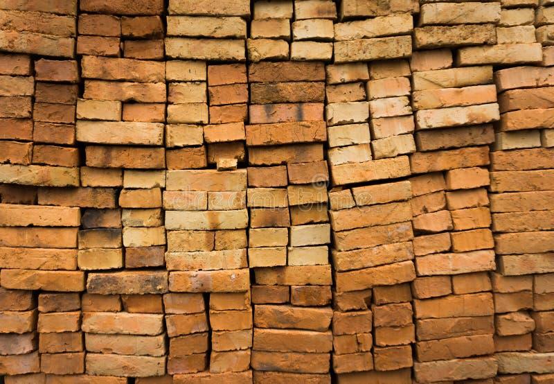 Textura Depok recolhido foto Indonésia dos tijolos vermelhos imagens de stock royalty free