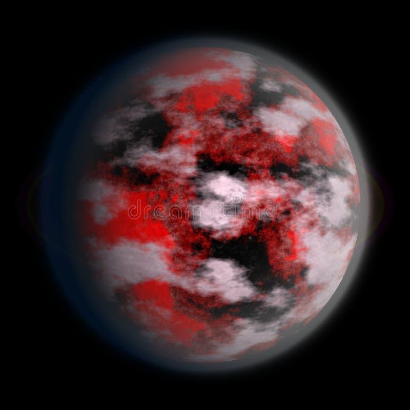 Textura desconocida del planeta, Tierra-como 3d 7 stock de ilustración