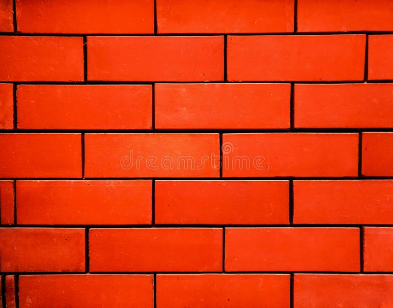 Textura detalhada da foto do fundo da parede de tijolo vermelho imagem de stock royalty free