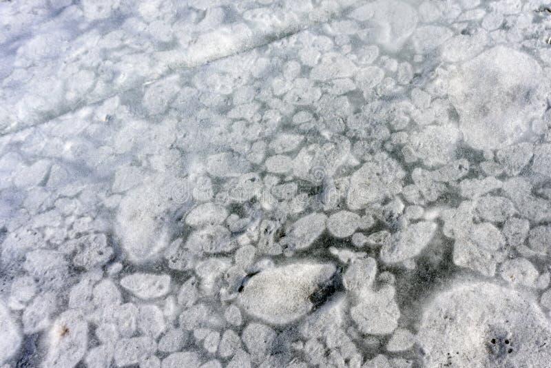 Textura detallada del fondo del hielo fino fresco fotos de archivo libres de regalías