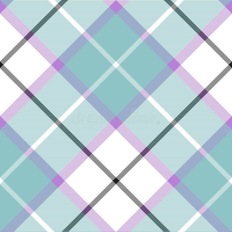 Textura diagonal de la tela escocesa del bebé del modelo inconsútil caliente suave del color ilustración del vector