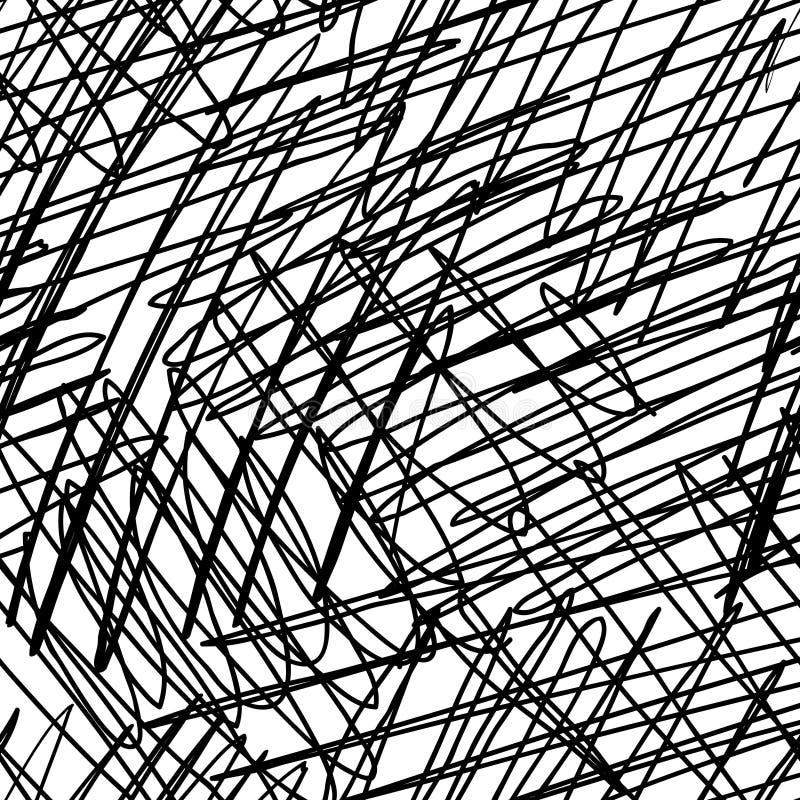 Textura dibujada mano inconsútil del garabato de la tinta ilustración del vector