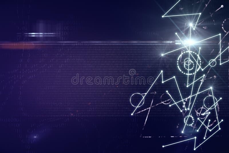 Textura digital abstrata ilustração stock