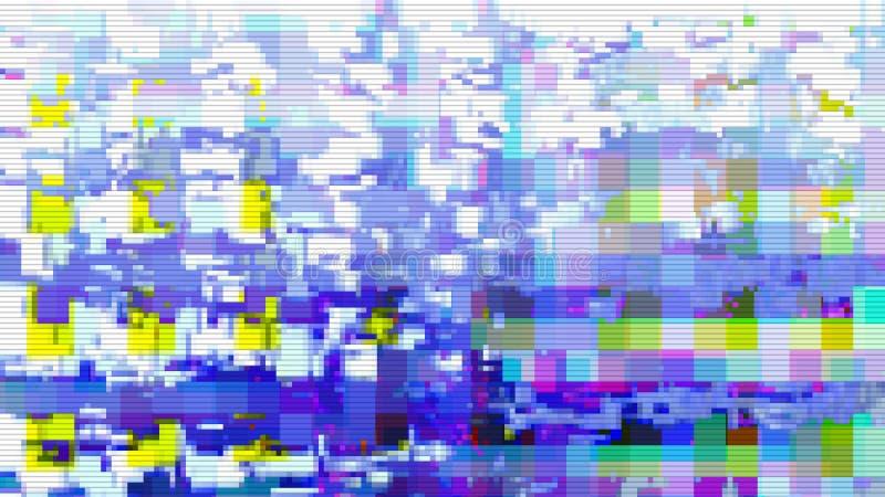 Textura digital del fondo del diseño de la interferencia, malo de Internet libre illustration