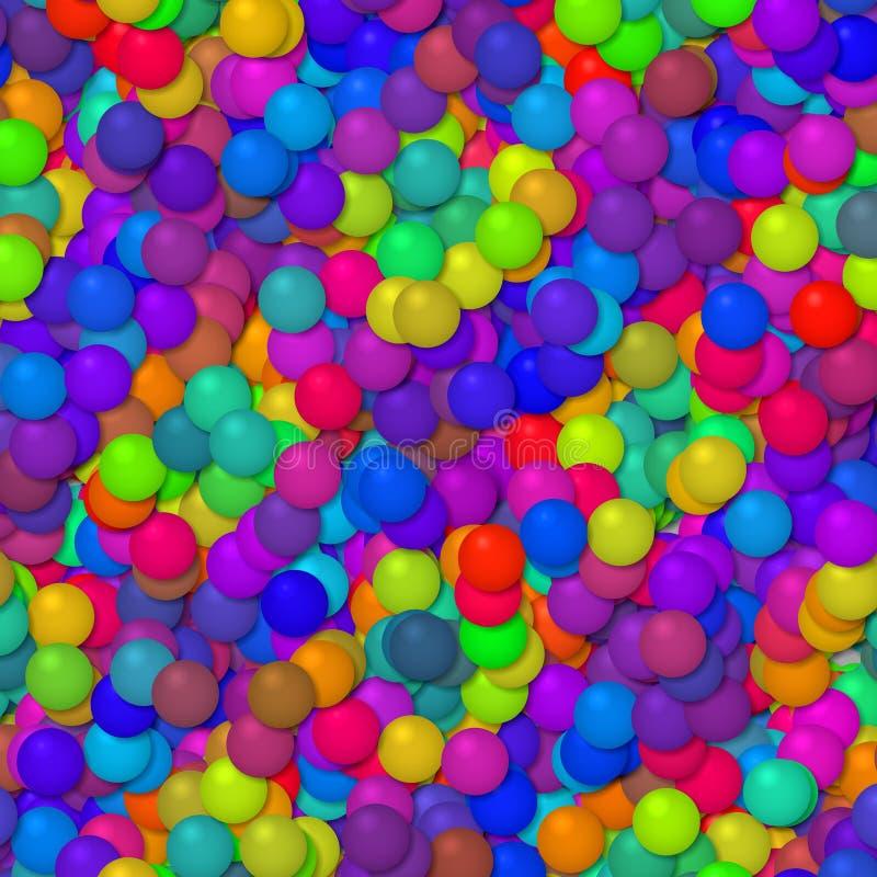 Textura divertida del fondo del partido de muchos pequeña baloons ilustración del vector