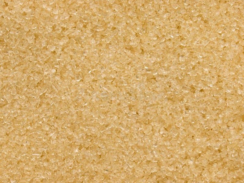 Textura do açúcar de Brown. Ampliação elevada. fotos de stock