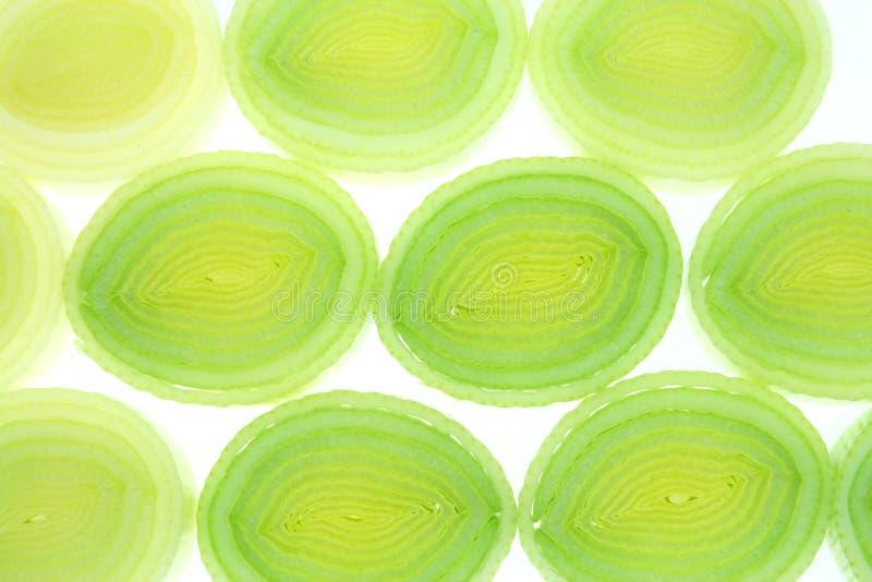 Textura do alho-porro foto de stock