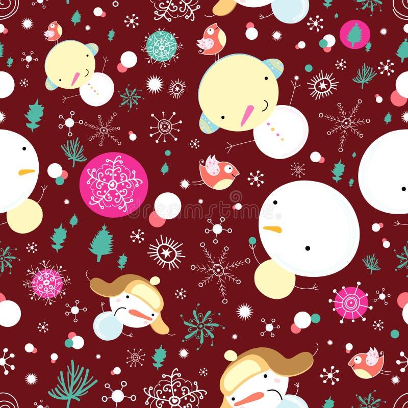 Textura do boneco de neve do divertimento ilustração stock