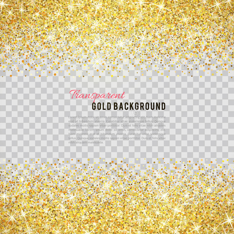 Textura do brilho do ouro com sparkles ilustração stock