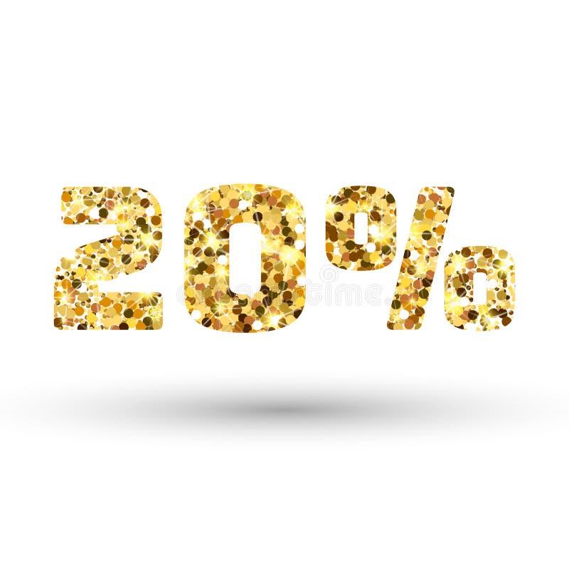 Textura do brilho do ouro Fundo dourado do sparcle Partículas ambarinas Contexto de Luxory ilustração stock