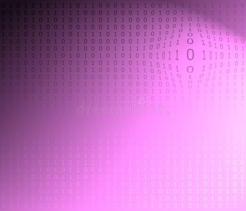Textura do código binário ilustração do vetor