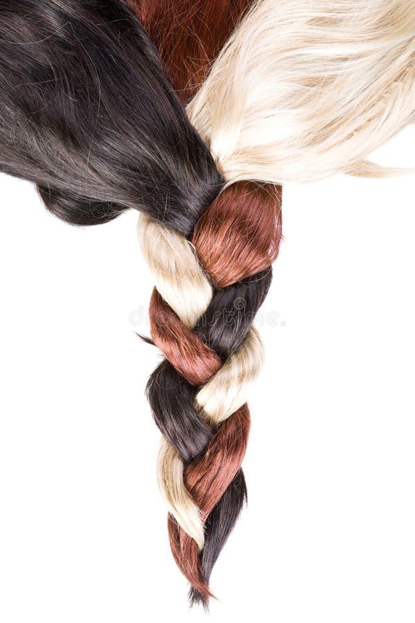 Textura do cabelo fotografia de stock