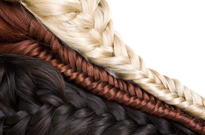 Textura do cabelo foto de stock