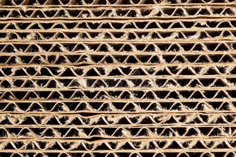 Textura do cartão ondulado imagem de stock