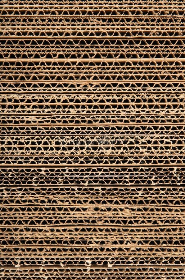 Textura do cartão ondulado fotos de stock royalty free