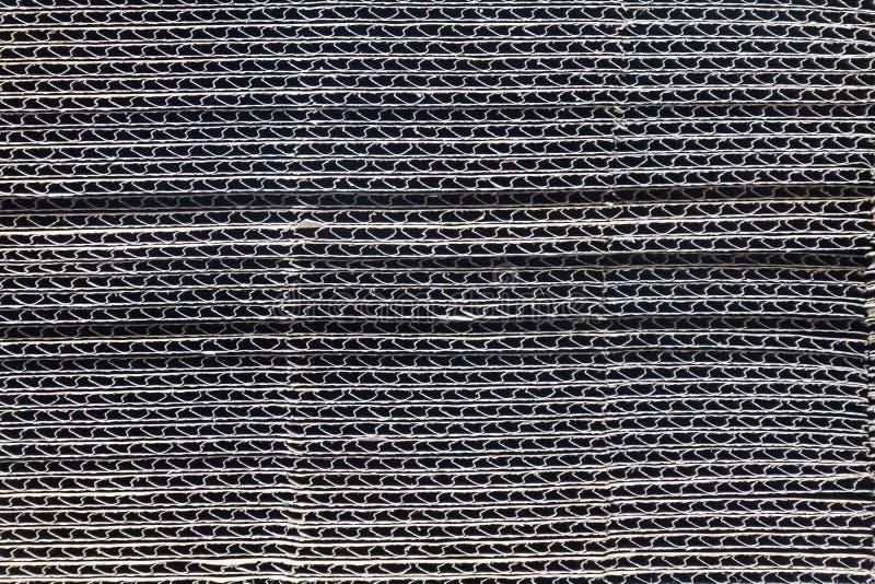 Textura do cartão ondulado empilhado imagem de stock royalty free