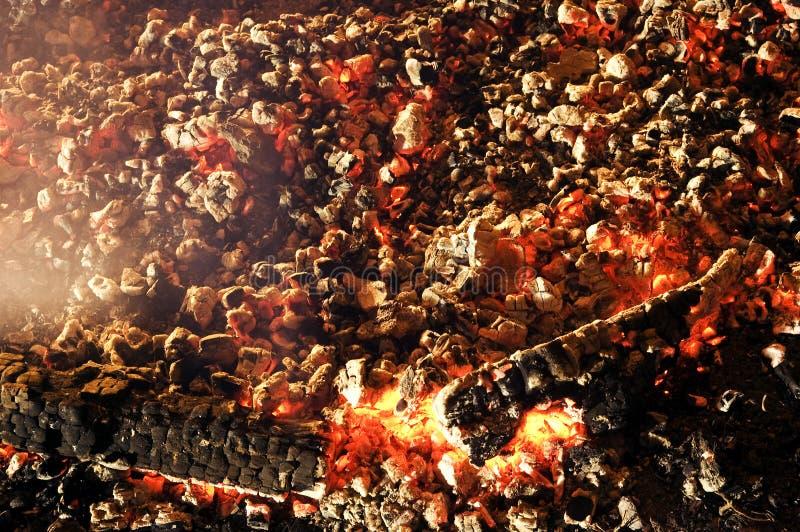 Textura do carvão vegetal do ember imagem de stock