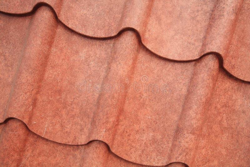 Textura do close up do metal do telhado da grão de Brown imagem de stock royalty free