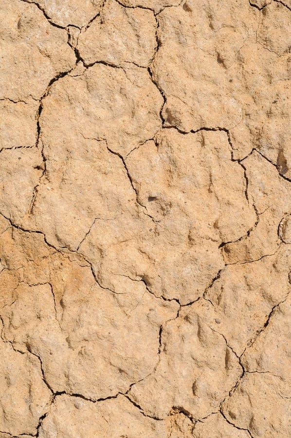 Textura do close up do solo seco e da areia fotografia de stock