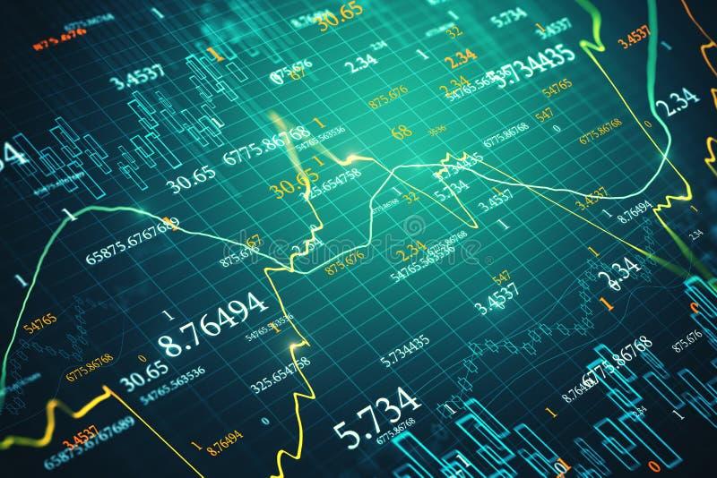 Textura do com?rcio e da economia ilustração do vetor