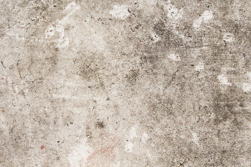 Textura do concreto de Grunge Foto bege da opinião superior de estrada asfaltada Textura afligida e obsoleta do fundo imagem de stock