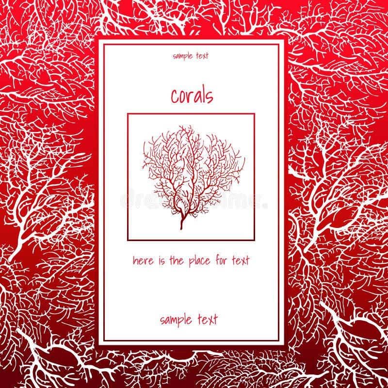 Textura do coral branco com texto vermelho ilustração royalty free