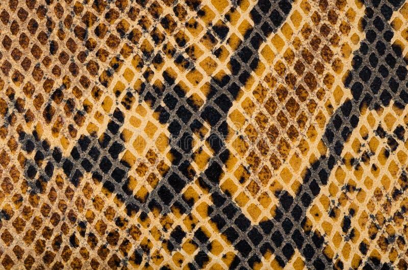 Textura do couro da pele de serpente imagens de stock