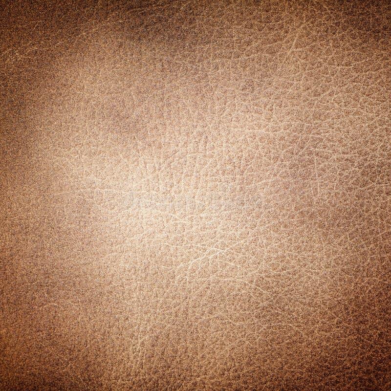 Textura do couro de Brown fotos de stock