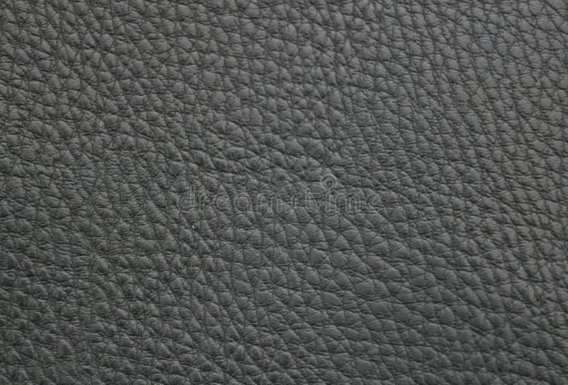 Textura do couro de imitação preto fotografia de stock