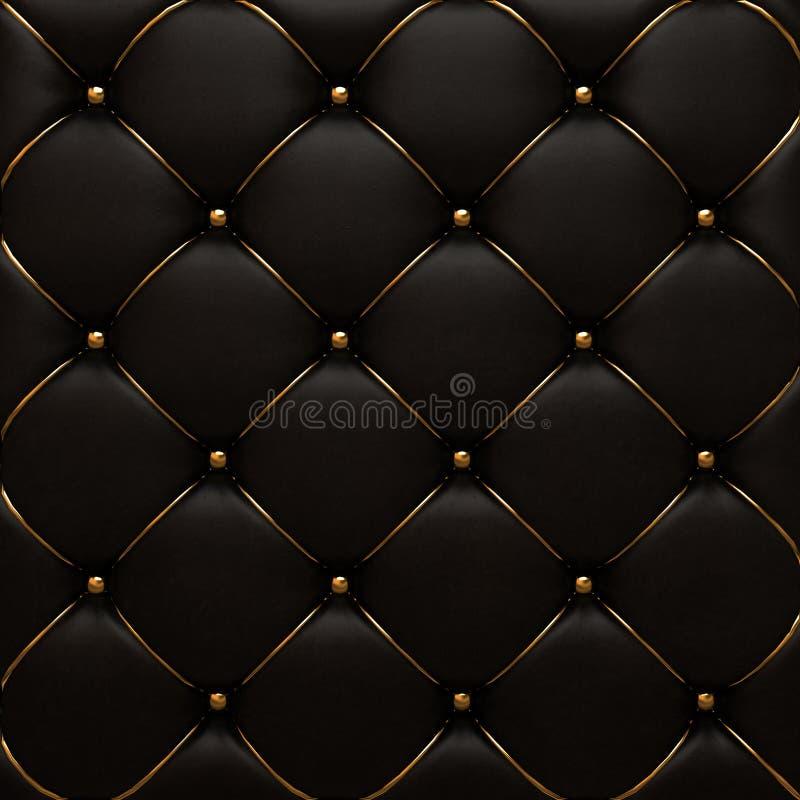 A textura do couro do ouro da pele acolchoada fotos de stock royalty free