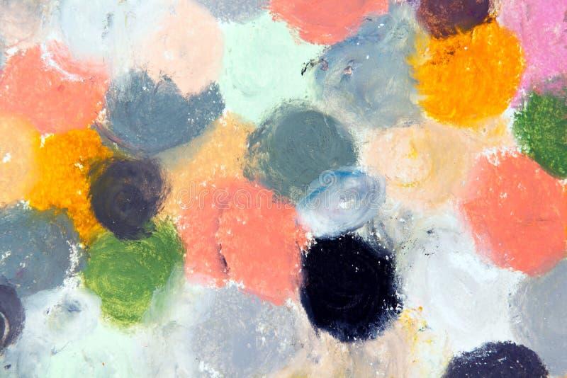 Textura do desenho de cores pastel do óleo para o fundo ilustração stock