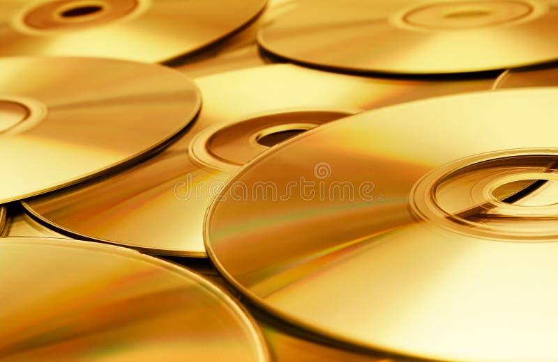 Textura do disco (ouro) imagens de stock royalty free