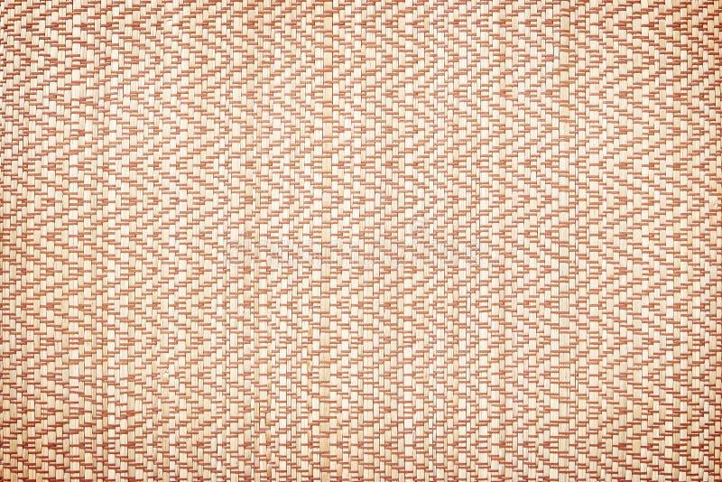 A textura do estilo tailandês nativo tece a esteira do carriço para o fundo - fez f foto de stock
