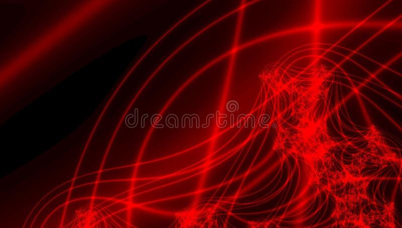 Textura do Fractal Coração dos Valentim Ame o cartão ilustração do vetor