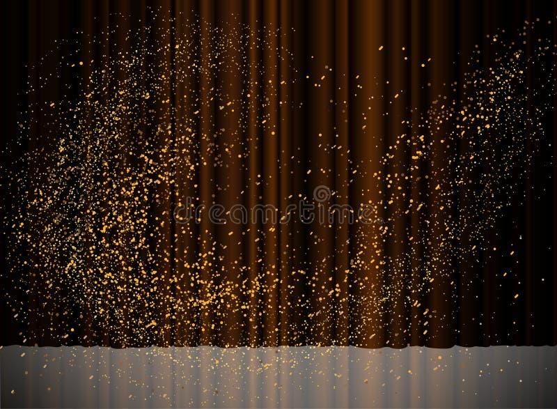 A textura do fundo cega o projeto do teste padrão do feixe luminoso ilustração stock