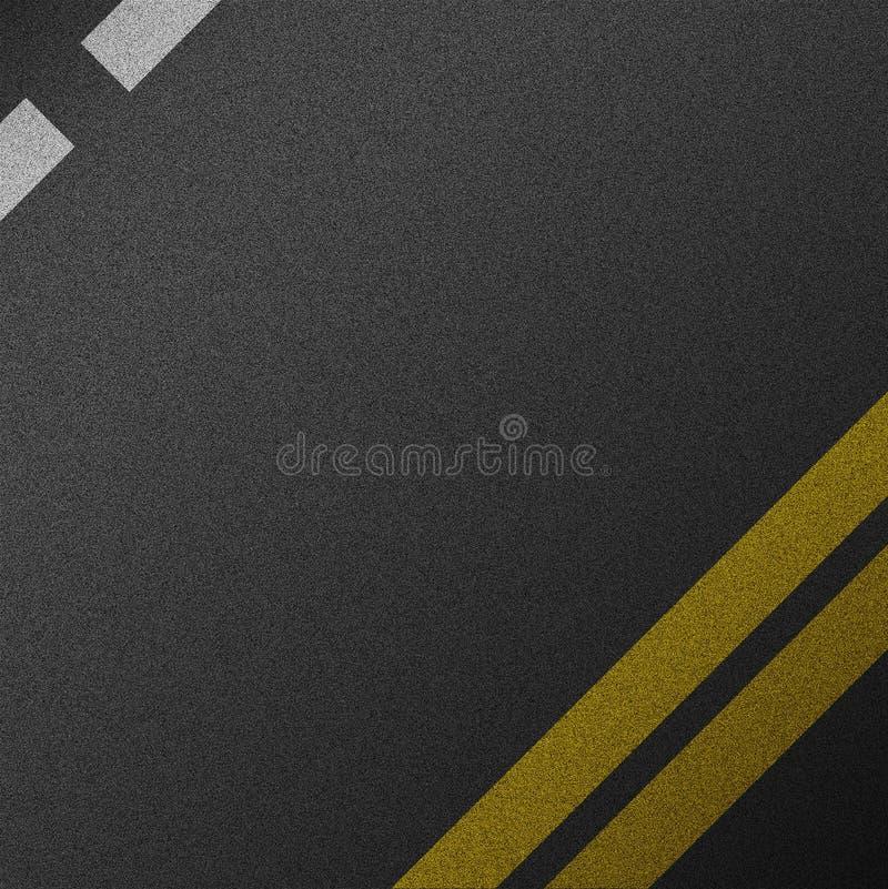 Textura do fundo da estrada do asfalto áspero ilustração stock