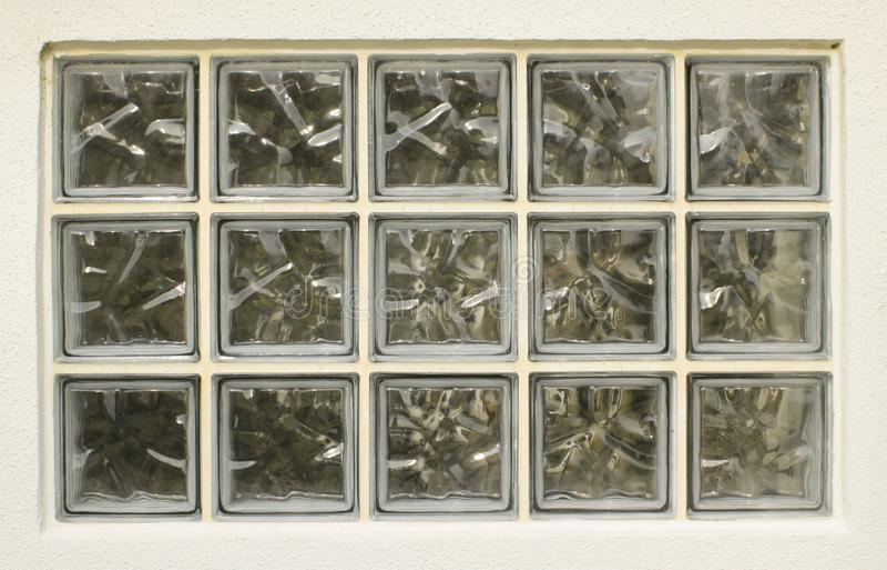 Textura do fundo da janela do tijolo de vidro imagem de stock royalty free