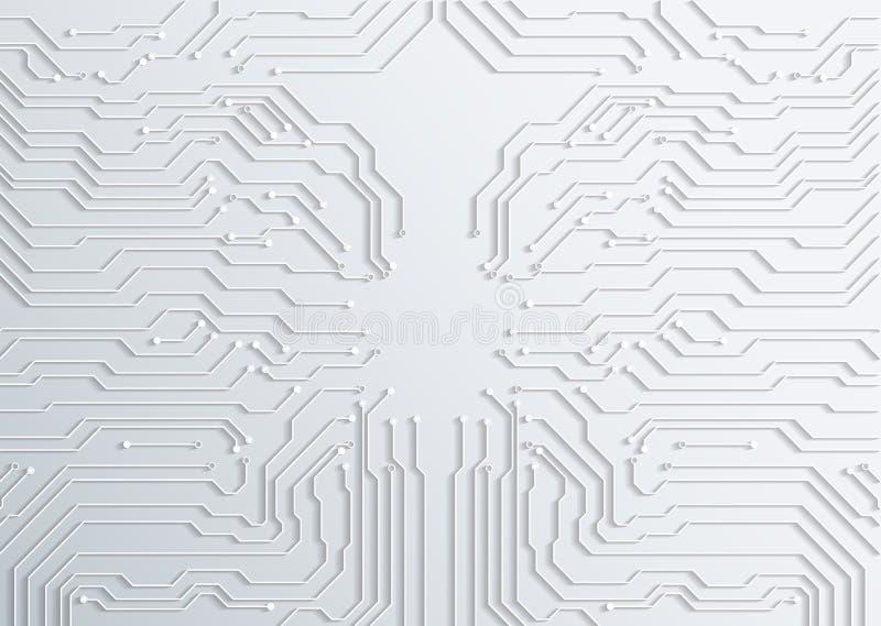 textura do fundo da placa de circuito 3d - vetor ilustração stock