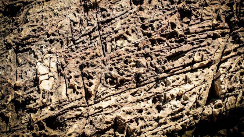 Textura do fundo da superfície marrom da rocha fotos de stock royalty free