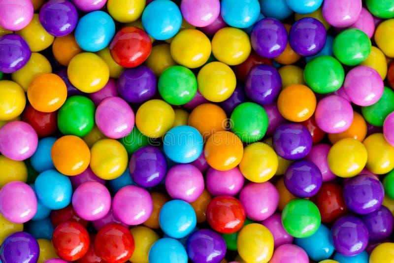 Textura do fundo de doces de açúcar coloridos arco-íris fotos de stock royalty free