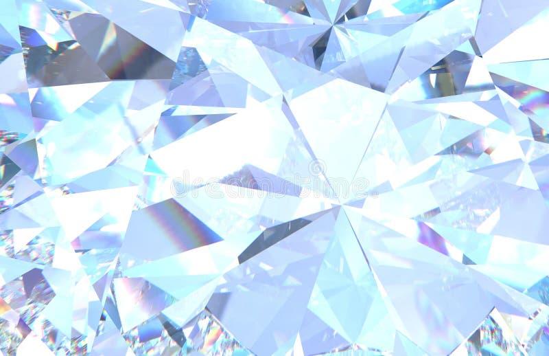 Textura do fundo do diamante Modelo macro da rendição 3d ilustração stock