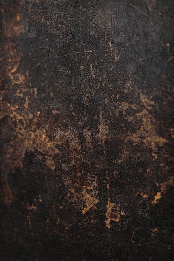 Textura do fundo do couro do marrom escuro. imagem de stock royalty free
